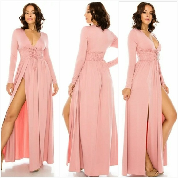63affa47eac Double Split Maxi Dress. Boutique. Hot Glam
